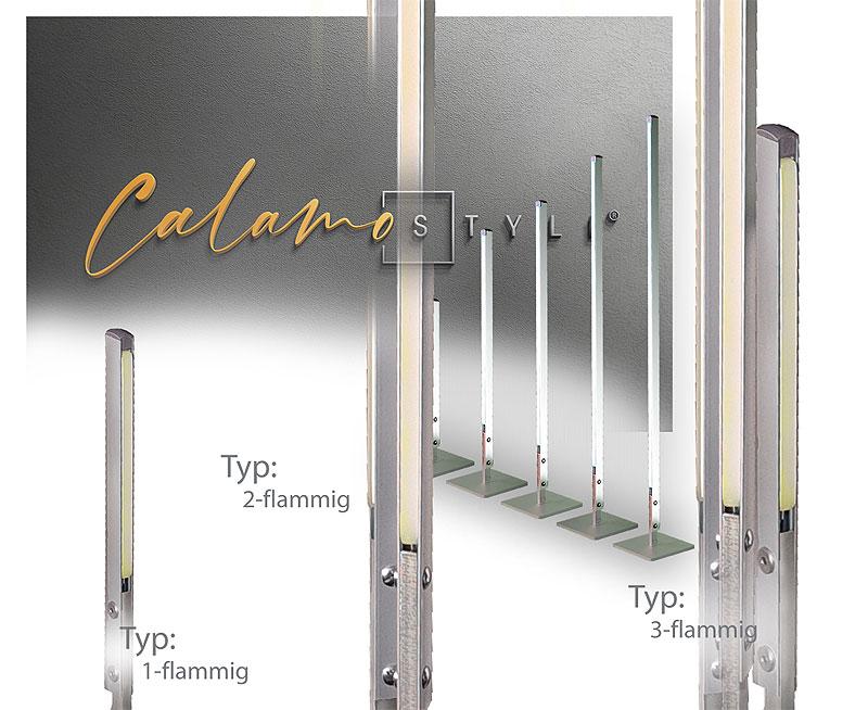 Design Aussenlampe modern: Calamo Style Design Leuchte von Calamo UNO Gartenleuchte LED