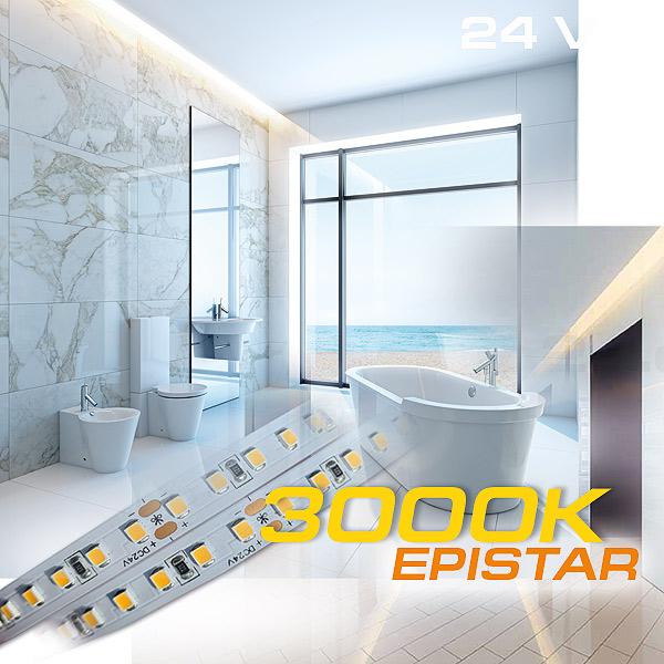Lichtdecke indirekt beleuchtet im Bad mit LED Streifen mit höchster Energieeffizienz