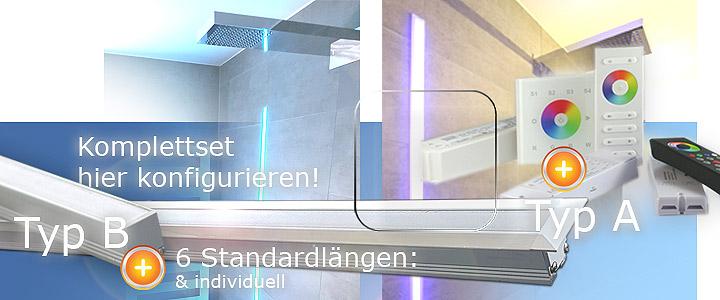 LED Dusche Beleuchtung, LED Schiene Beleuchtung in der ...