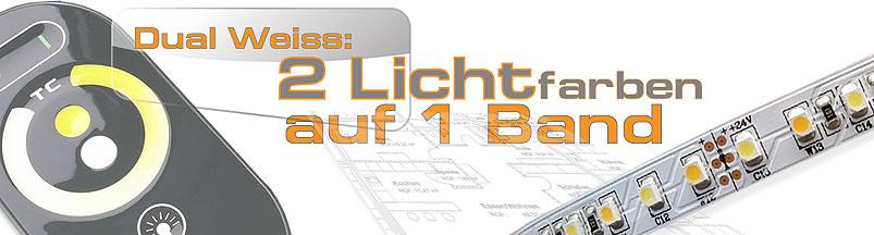 Hervorragend Komplett Set Dual weisse LED Strips 2700-6000K ZF42