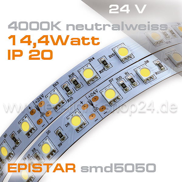 LED Strip 4000K neutral weiss Streifen Band
