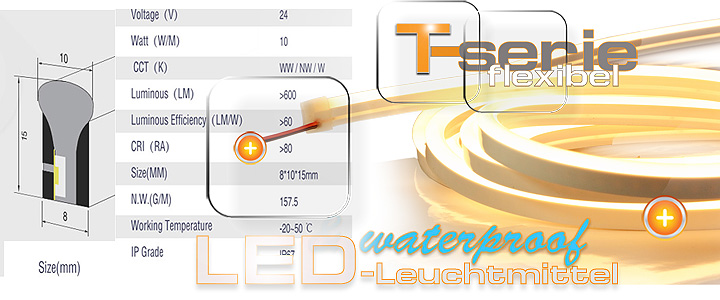 Biegsames LED Leuchtmittel