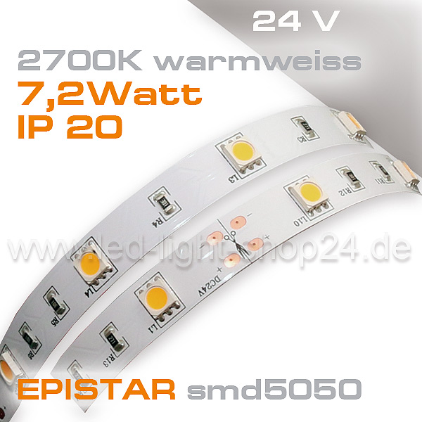 2700K LED Band mit 30Chips 24Volt