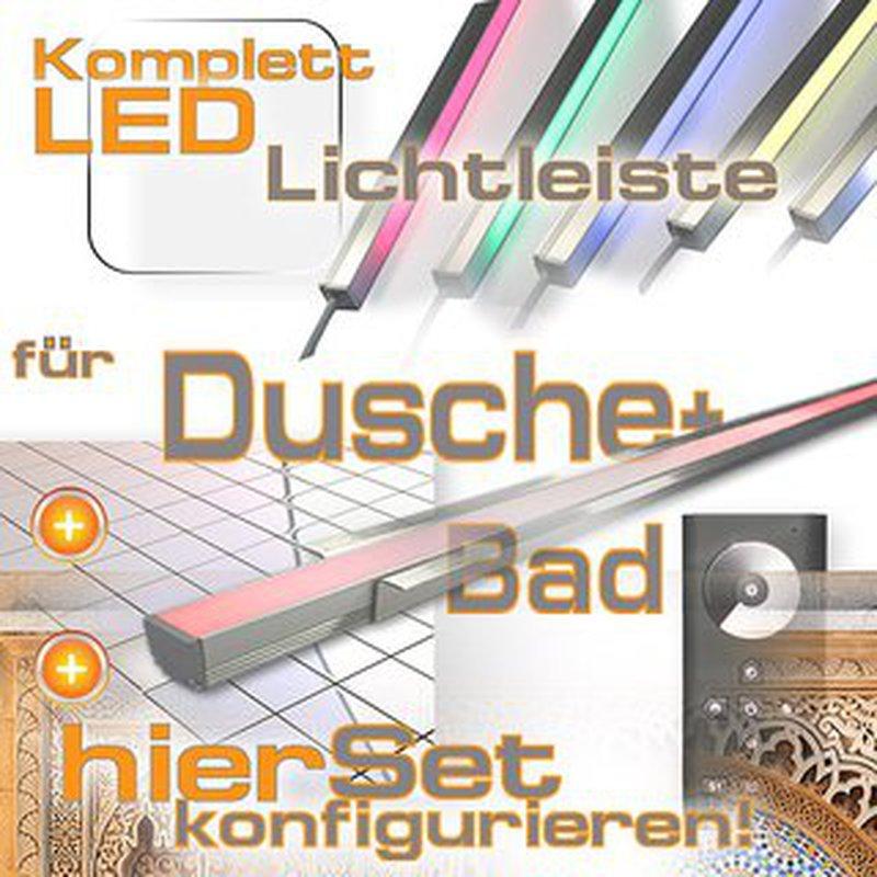 LED Leiste für Dusche Bad & Fliesen, LED Dusche Komplettset