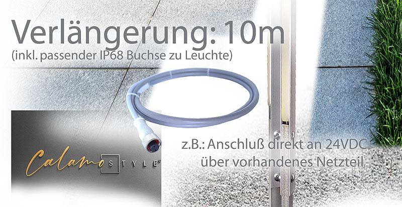 Verlängerungskabel für Design Leuchte im Aussenbereich