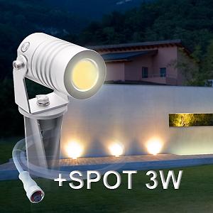 3Watt Bodenstrahler für Terrassenbeleuchtung in weissem Licht