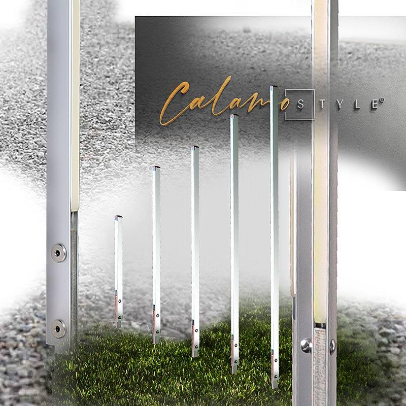 Design im Garten und an Fassade: Design Aussenleuchte Calamo Style in Weiss