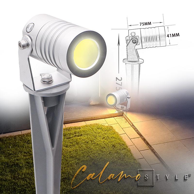 Gartenlampe mit Erdspiess für Beleuchtungssystem im Garten