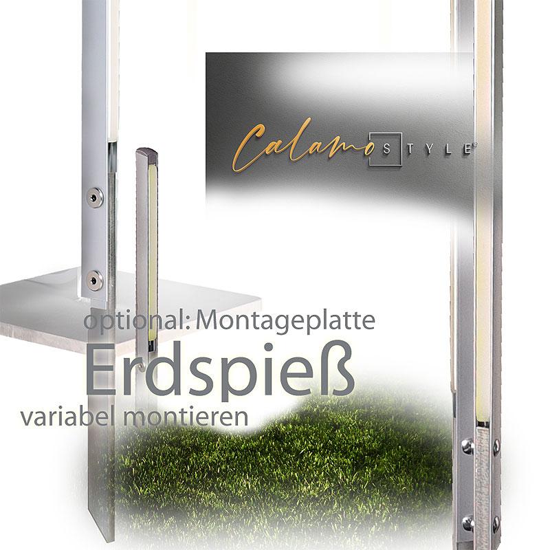 Designbeleuchtung im Garten: Gartenleuchte Calamo Style LED in Weiss
