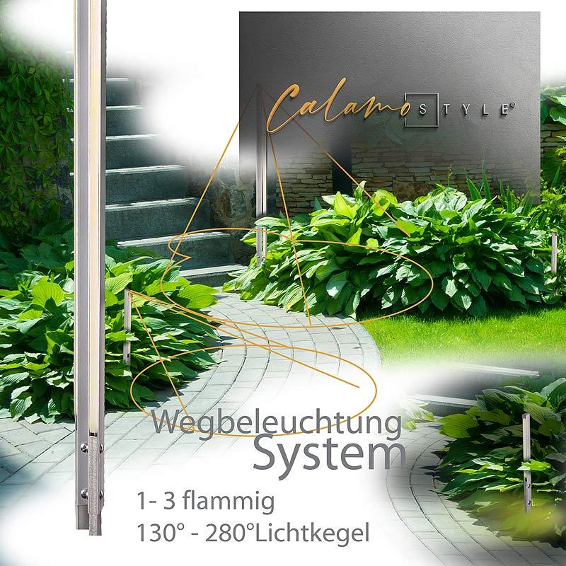 Wegbeleuchtung im Garten mit Calamo Style LED Gartenleuchte für den Boden
