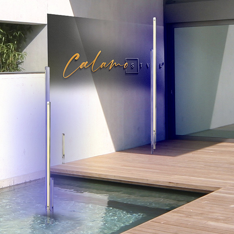 Design Lichtstehle RGB Aussenbeleuchtung modern wasserfest