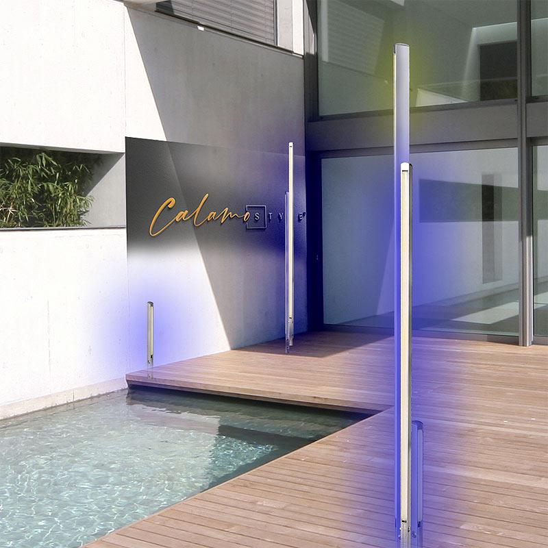 RGB Stehleuchte Gartenbeleuchtung RGB Aussenbereich farbig modern ausleuchten