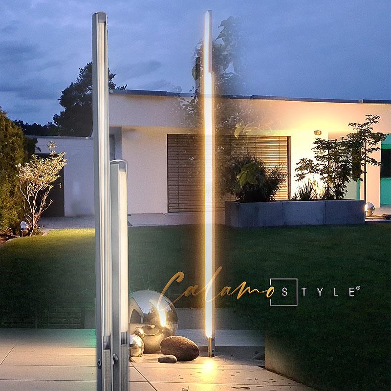 Design Gartenleuchten CALAMO-Style als Garten Stehleuchte verwenden im Aussenbereich