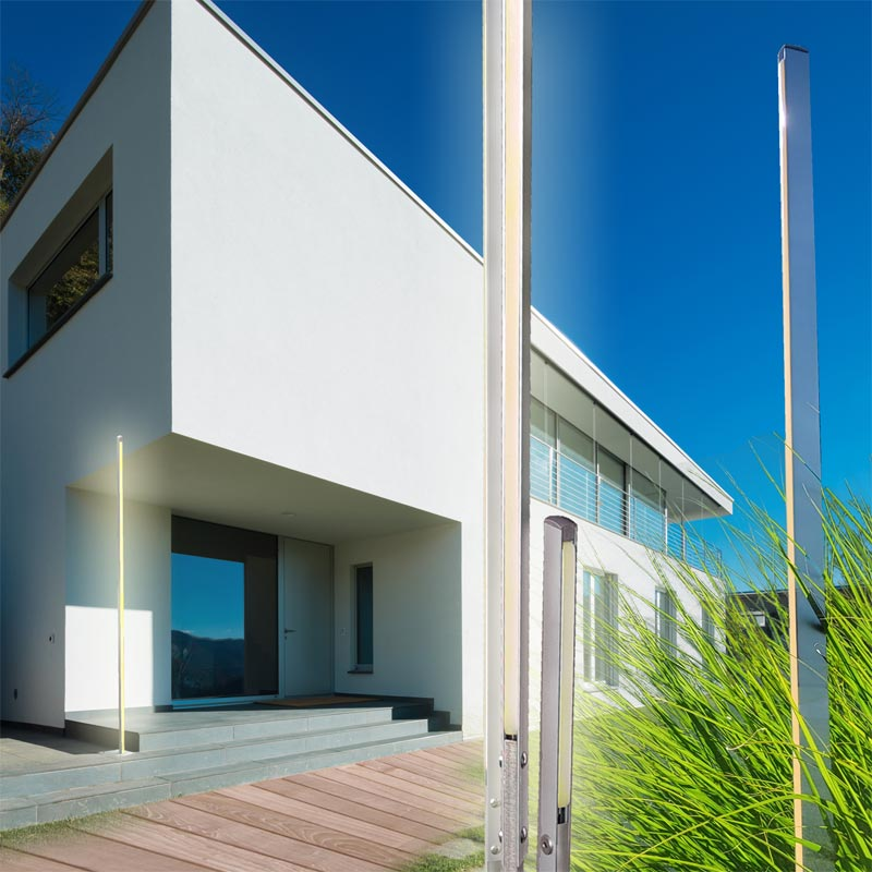 DEsign Gartenleuchte Calamo Style für Fassaden und Gartenbeleuchtung