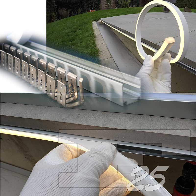 Bodenbeleuchtung Terrassenboden