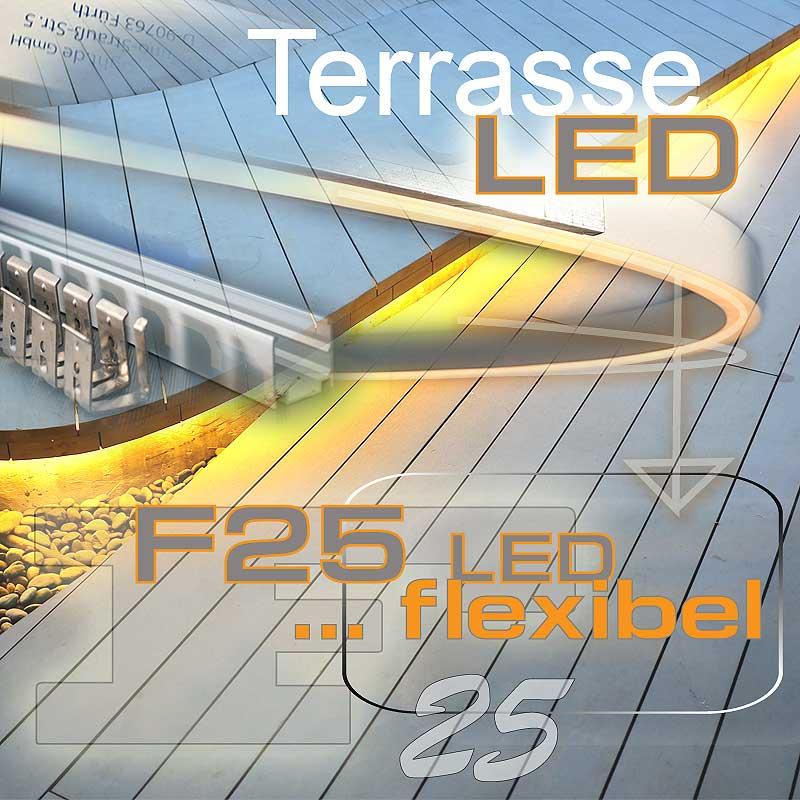 LED auf der Holzterrasse beleuchten in RGB
