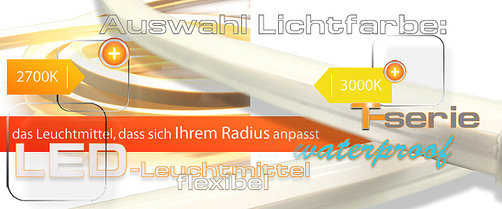 led gebogen